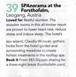 SPAnorama unter den 100 Best Spas in the World